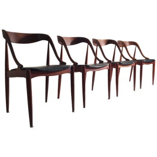 Vintage Mid Century Johannes Andersen for Moreddi Teak Dining Chairs- Set of 4 For Sale