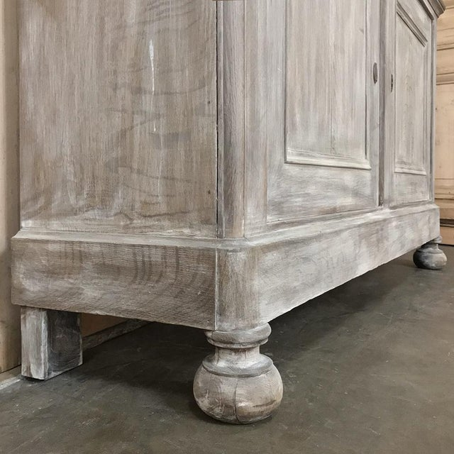 19th Century French Louis Philippe Period Whitewashed Bookcase For Sale - Image 11 of 13