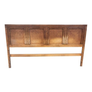 1960s Hollywood Regency Faux Bamboo King Size Headboard For Sale