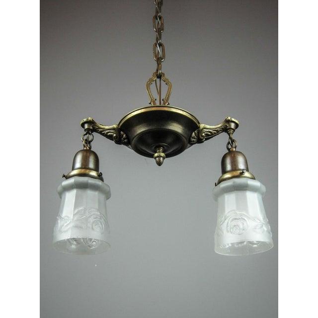 Original Pan Light Fixture (2-Light) - Image 4 of 9