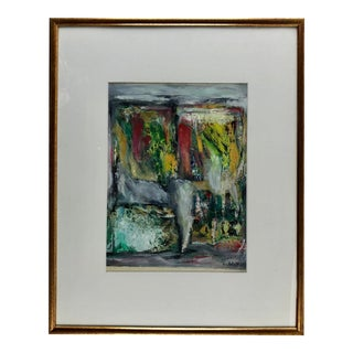 Original Abstract Painting by C. Azuelos in the Manner of Barbara Kreitman For Sale