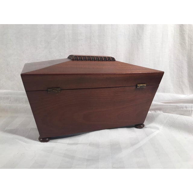 Brown 19th Century English Rosewood Tea Caddy For Sale - Image 8 of 11