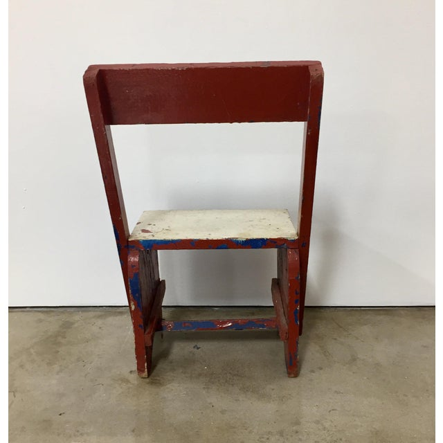 1950s 1950s Vintage Rustic Child's Chair For Sale - Image 5 of 8
