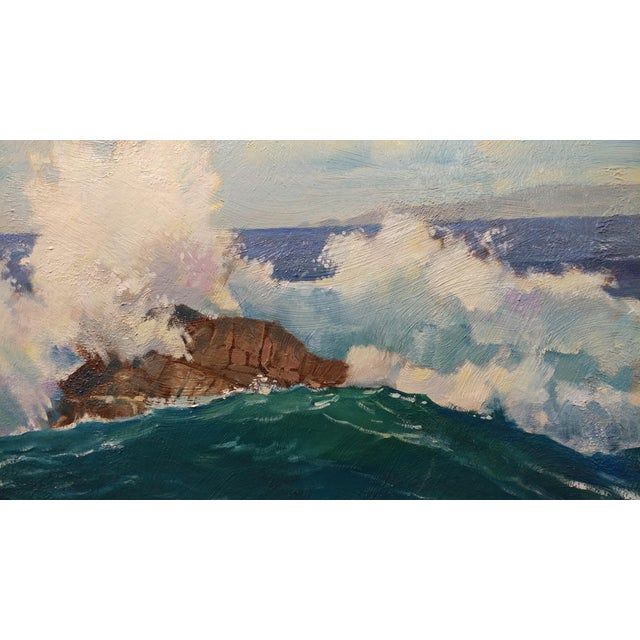 "Paul Youngman ""Pacific Grove California Seascape"" Original Oil Painting For Sale - Image 4 of 10"