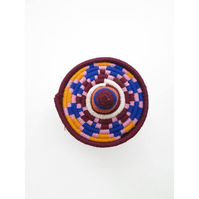 Pink & Blue Moroccan Bread Basket - Image 4 of 4