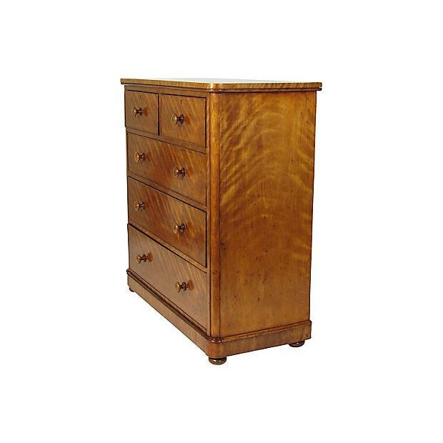 19th-C. English Sycamore Chest - Image 2 of 5