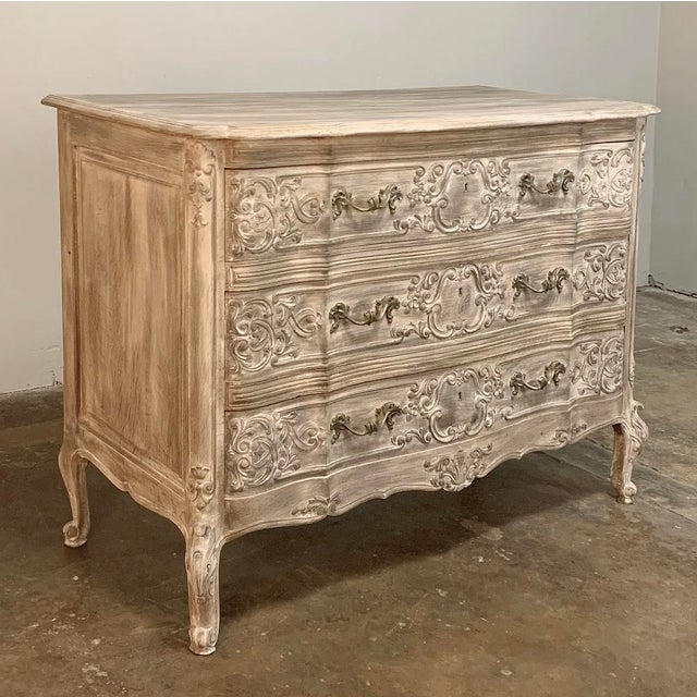 Antique Country French Whitewashed Oak Commode makes a great choice for a durable, attractive yet casual addition to any...
