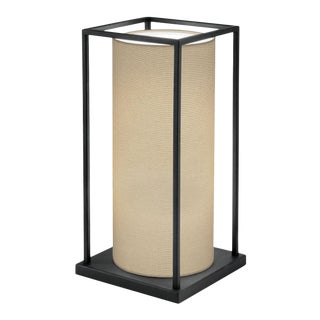 Black Textured Box Lamp For Sale
