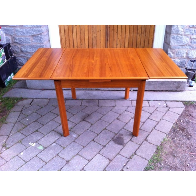 Danish Modern Drop-Leaf Dining Table - Image 2 of 7