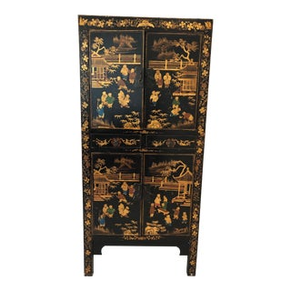 Chinese Decorative Armoire For Sale