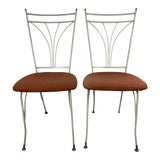 Image of Mid Century Modern Homecrest Metal Outdoor Chairs - a Pair For Sale