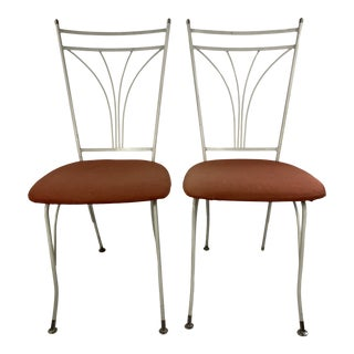 Mid Century Modern Homecrest Metal Outdoor Chairs - a Pair For Sale
