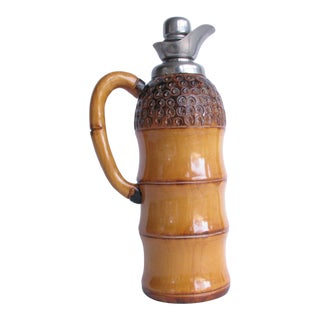 1950s Mid-Century Modern Aldo Tura for Macabo Bamboo and Metal Thermal Carafe For Sale