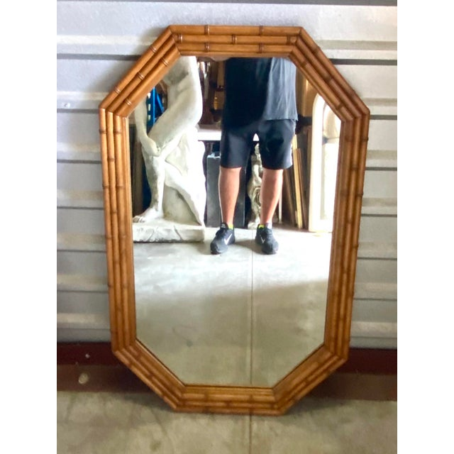Late 20th Century Coastal Carved Bamboo Mirror For Sale - Image 5 of 7