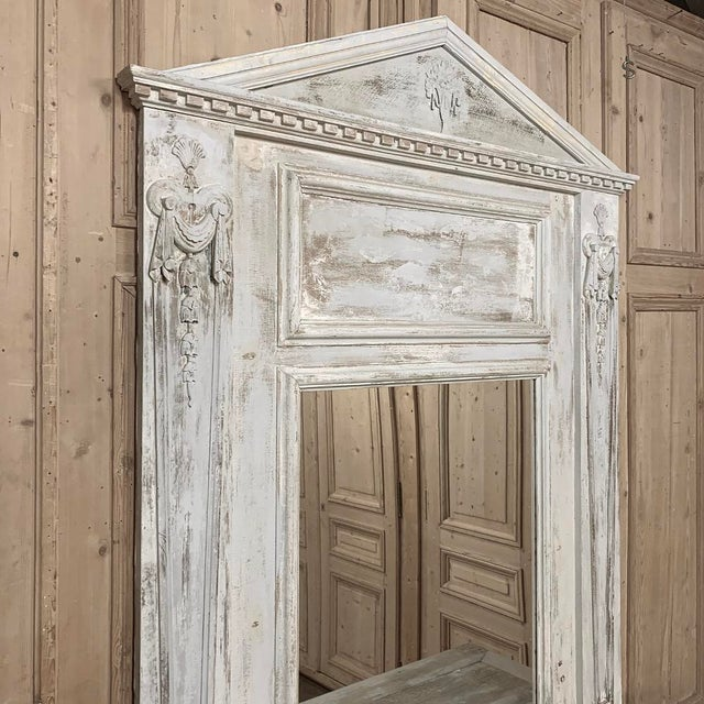 Wood Trumeau, 19th Century French Classical Painted For Sale - Image 7 of 12
