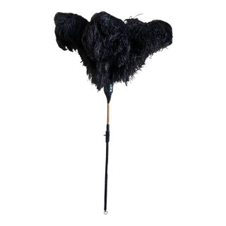Duster with Ostrich Feathers and Leather, Handcrafted For Sale