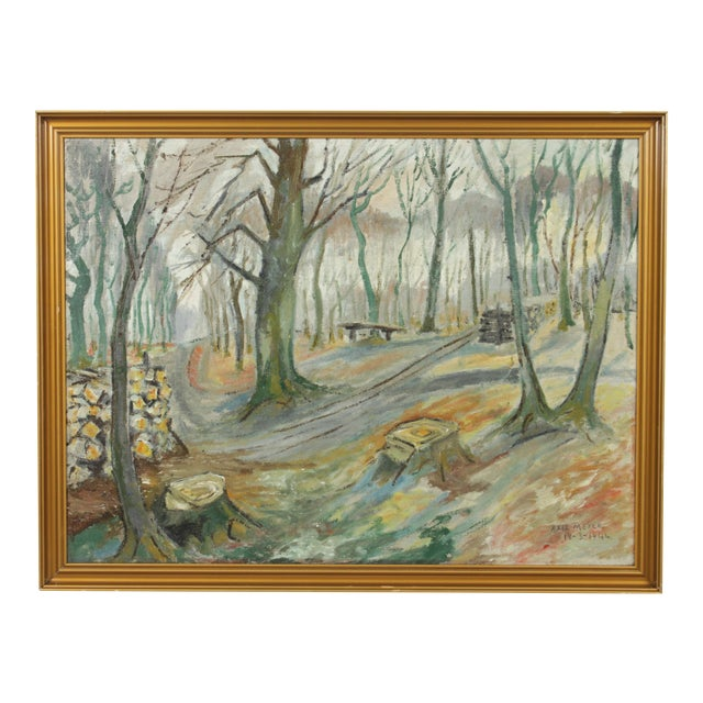 Impressionist Forest Landscape by Axel Meyer For Sale