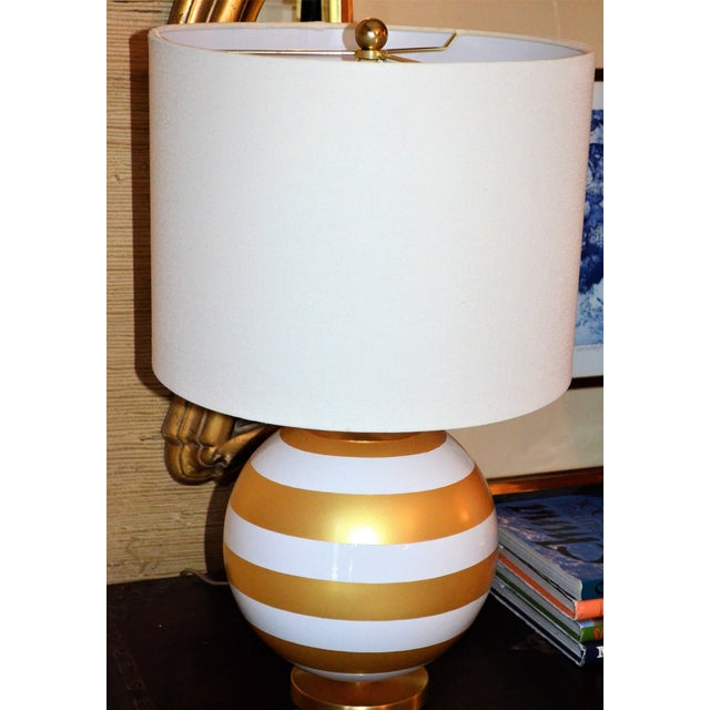 Gold & Cream Kate Spade Table Lamp For Sale In Houston - Image 6 of 10