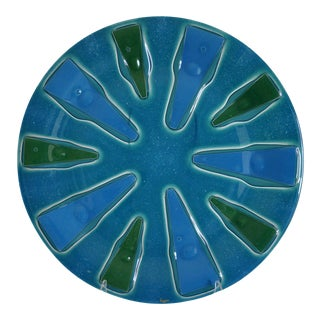 Higgins Mid-Century (1957-1974) Fused Glass Platter For Sale