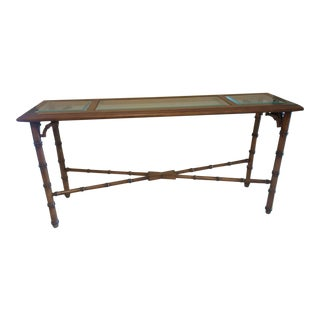 Mid-Century Bamboo Style Foyer / Hall Entry Table For Sale