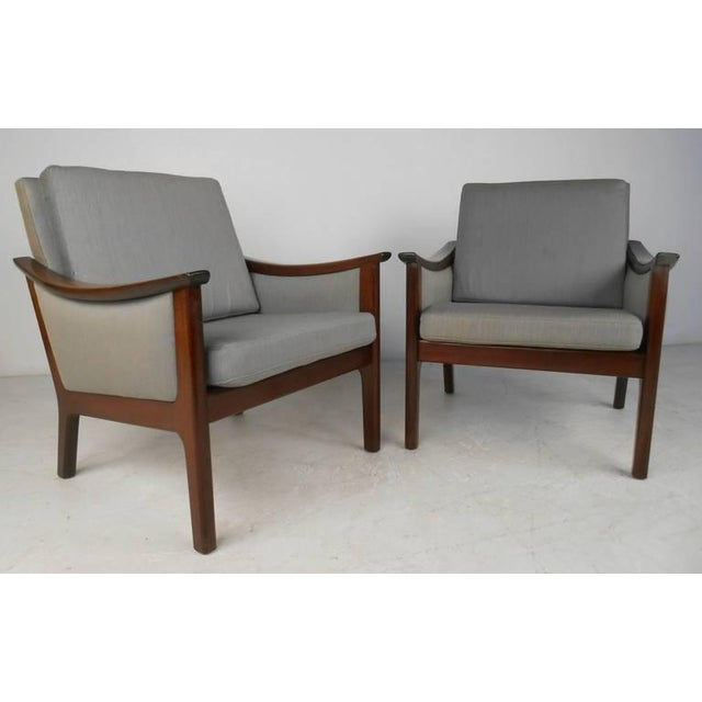 Mid-century Ole Wanscher Style Living Room Suite For Sale - Image 4 of 10