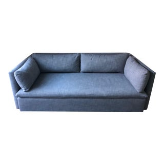 Modern Shelter Blue Sofa For Sale