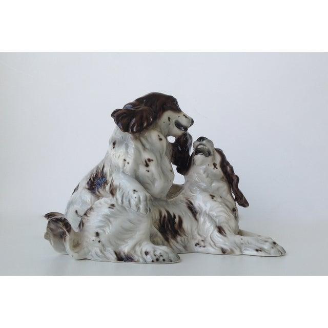 Vintage Italian Porcelain Springer Spaniels For Sale - Image 11 of 11