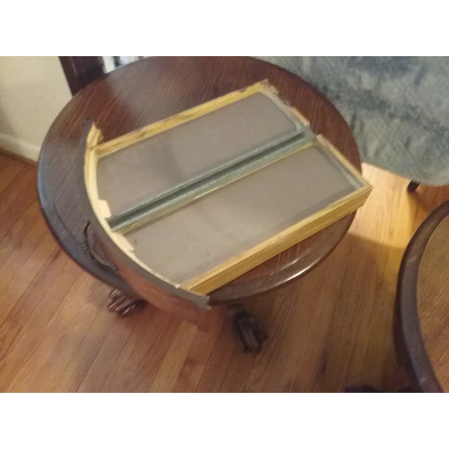 Classic Oak End Tables - Pair - Image 4 of 8