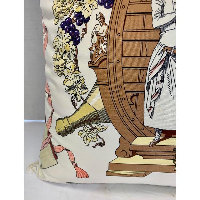 """Hermès of Paris """"A La Gloire De La Cuisine Française"""" Silk Scarf Pillow For Sale In New York - Image 6 of 12"""