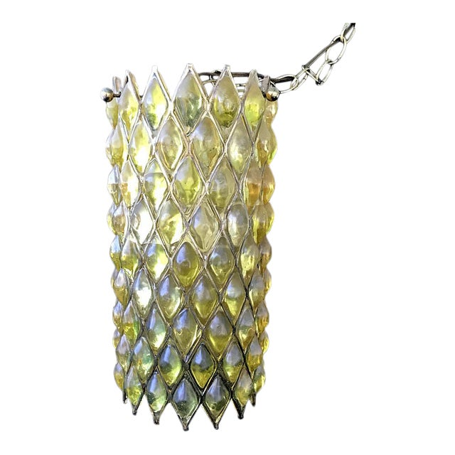 Mid-Century Modern Swag Cylinder Hanging Lamp - Image 1 of 6