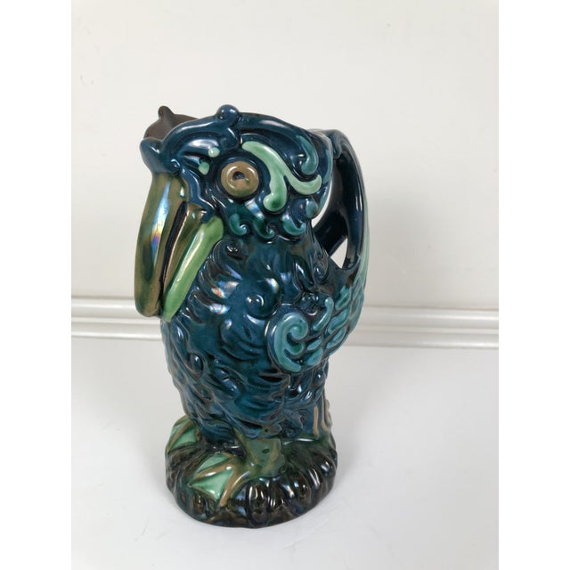 Longpark English Art Pottery Bird Pitcher For Sale - Image 11 of 13