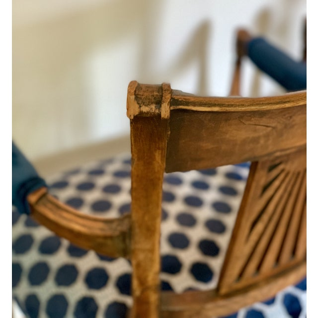 Wood Late 18th Century Vintage French Armchairs- Set of 4 For Sale - Image 7 of 11