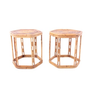 Vintage Franco Albini Style Side Tables - A Pair