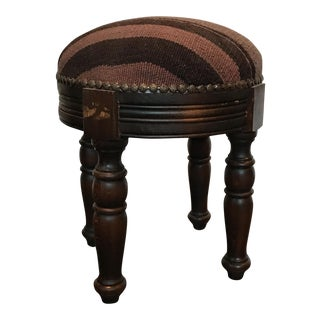 Aged Wood Cushioned Stool