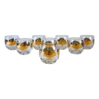 Vintage Metallic Gold Cocktail Glasses - Set of 8 For Sale