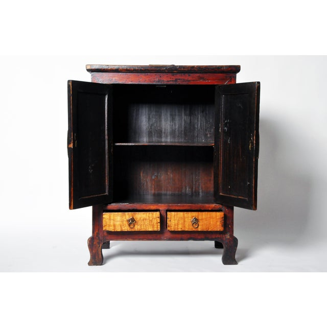 Chinese Red Lacquer Cabinet For Sale - Image 4 of 11