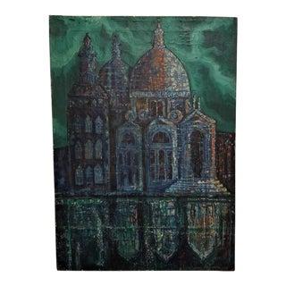 1964 Italo Locchi Venice Scene Oil on Canvas Painting For Sale