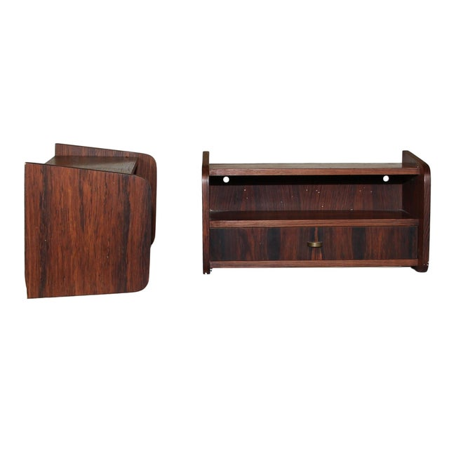 1960s Pair of Mid Century Rosewood Night Stands For Sale - Image 5 of 9
