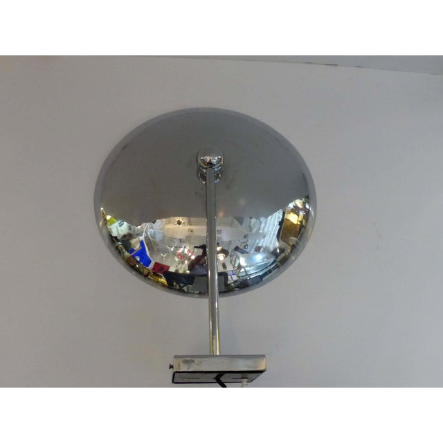 Mid-Century Modern 1950s Modern Chrome Disk Sconce For Sale - Image 3 of 9