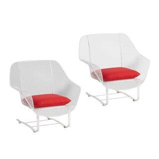 Pair of Russell Woodard Sculptura Spring Chairs Circa 1950s