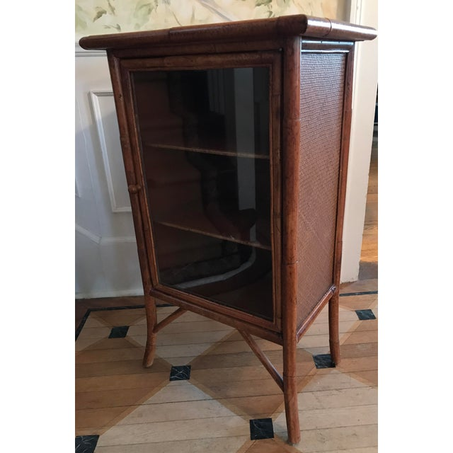 Wicker and Bamboo Maitland Smith Cabinet - Image 4 of 9