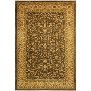 Southwestern Kafkaz Peshawar Kelley Brown/Tan Wool Rug - 9'9 X 13'10 For Sale