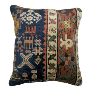 Small Heriz Rug Pillow For Sale