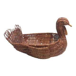 Wicker Bird Basket