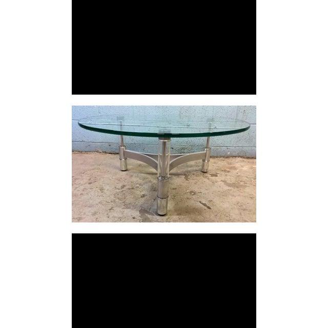 Modern Metal & Acrylic Tube Coffee Table - Image 2 of 6