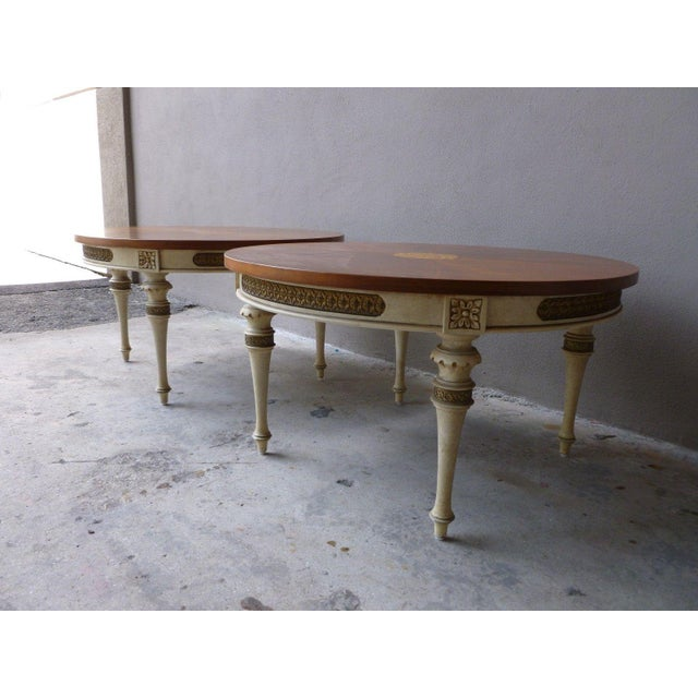 Wood 1950s Neoclassical Palladio Coffee Tables - a Pair For Sale - Image 7 of 13