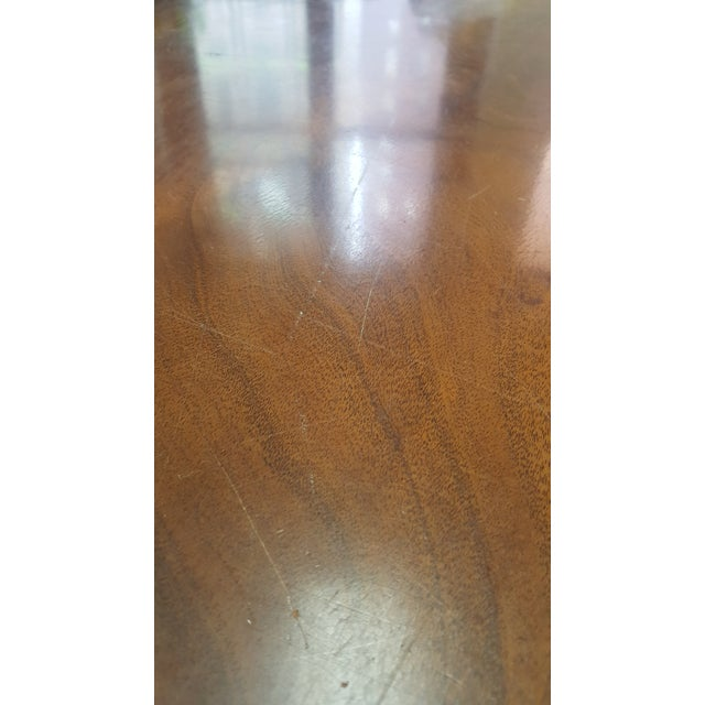 Traditional Millender Round Mahogany Dining Table For Sale - Image 10 of 13