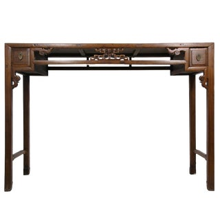 Chinese Antique Open Carved Altar/Sofa Table For Sale