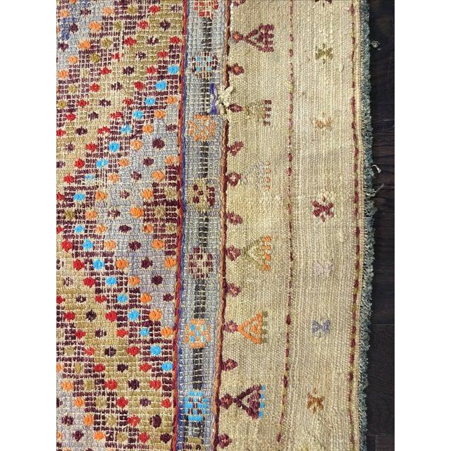 "Vintage Turkish Jijim Kilim Rug - 7'2"" x 9'10"" - Image 3 of 9"