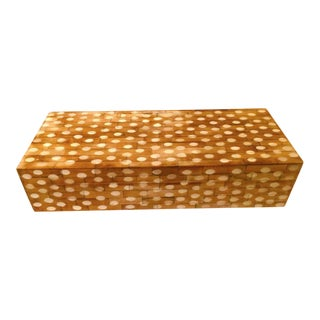 Polka Dot Carved Wooden Box